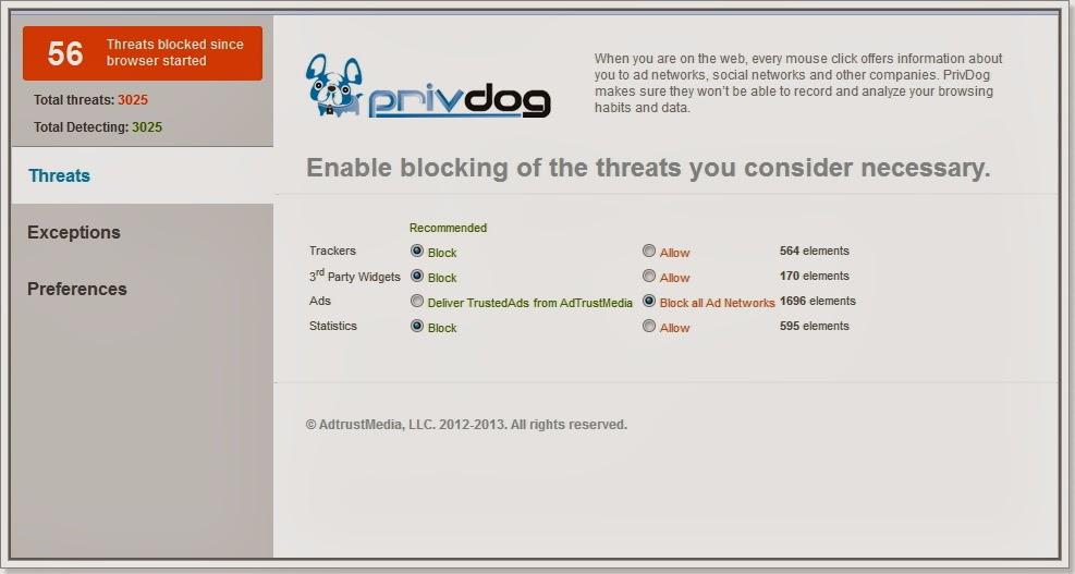 PrivDog segurança-online