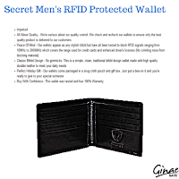 Secret Men's RFID Protected Wallet