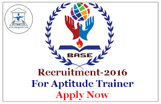 BASE Institute - Recruitment for Aptitude Trainer | Apply Now
