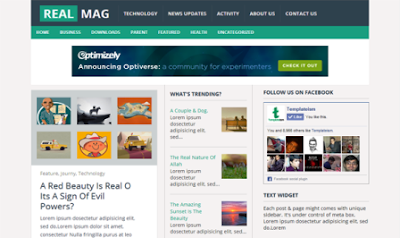 Real Mag - Magazine Responsive Blogger Template