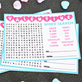 Word Search Valentines