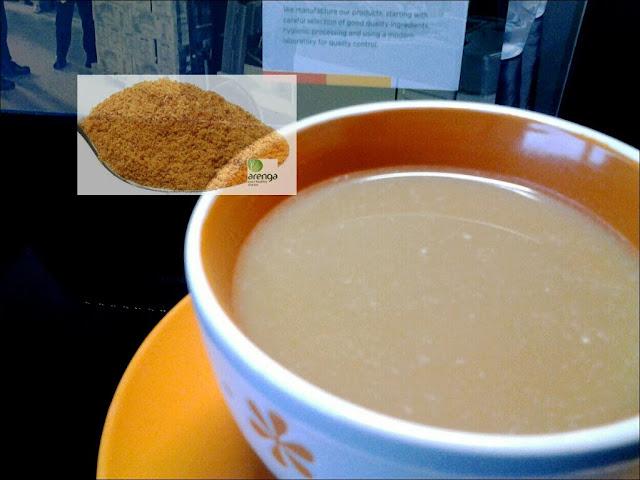 menikmati kopi jahe palm sugar