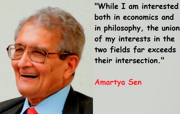 amartya sen and his contributions to economics Amartya sen made remarkable contribution to development economics on the one hand and welfare economics on the other in this juncture, human development may be regarded as a blend of both development economics and welfare economics.