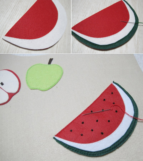 Fruit Bag. DIY step-by-step tutorial. Веселая сумка своими руками.