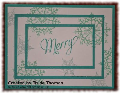 Triple Layer card, Snowflake Soiree, Stamp with Trude, Stampin' Up!, Christmas card
