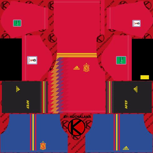 de0a191c9d1 Spain 2018 World Cup Kit - Dream League Soccer Kits - Kuchalana