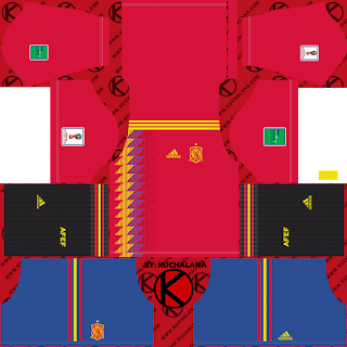 Spain 2018 World Cup Kit -  Dream League Soccer Kits