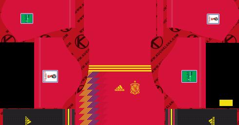 Spain 2018 World Cup Kit - Dream League Soccer Kits - Kuchalana