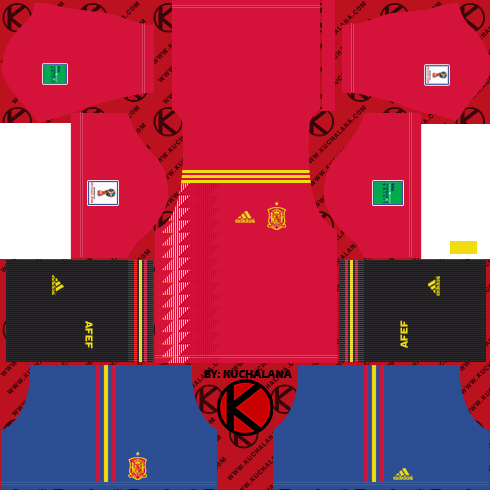 Spain 2018 World Cup Kit -  Dream League Soccer Kits