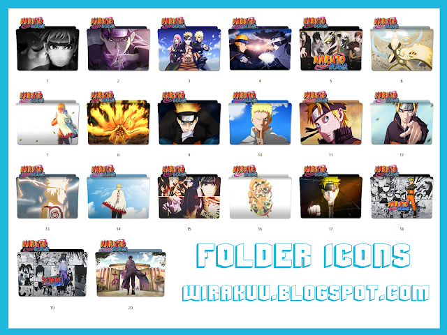 20 Folder Icons Anime Naruto Shippuden (Windows 7, 8, 10)