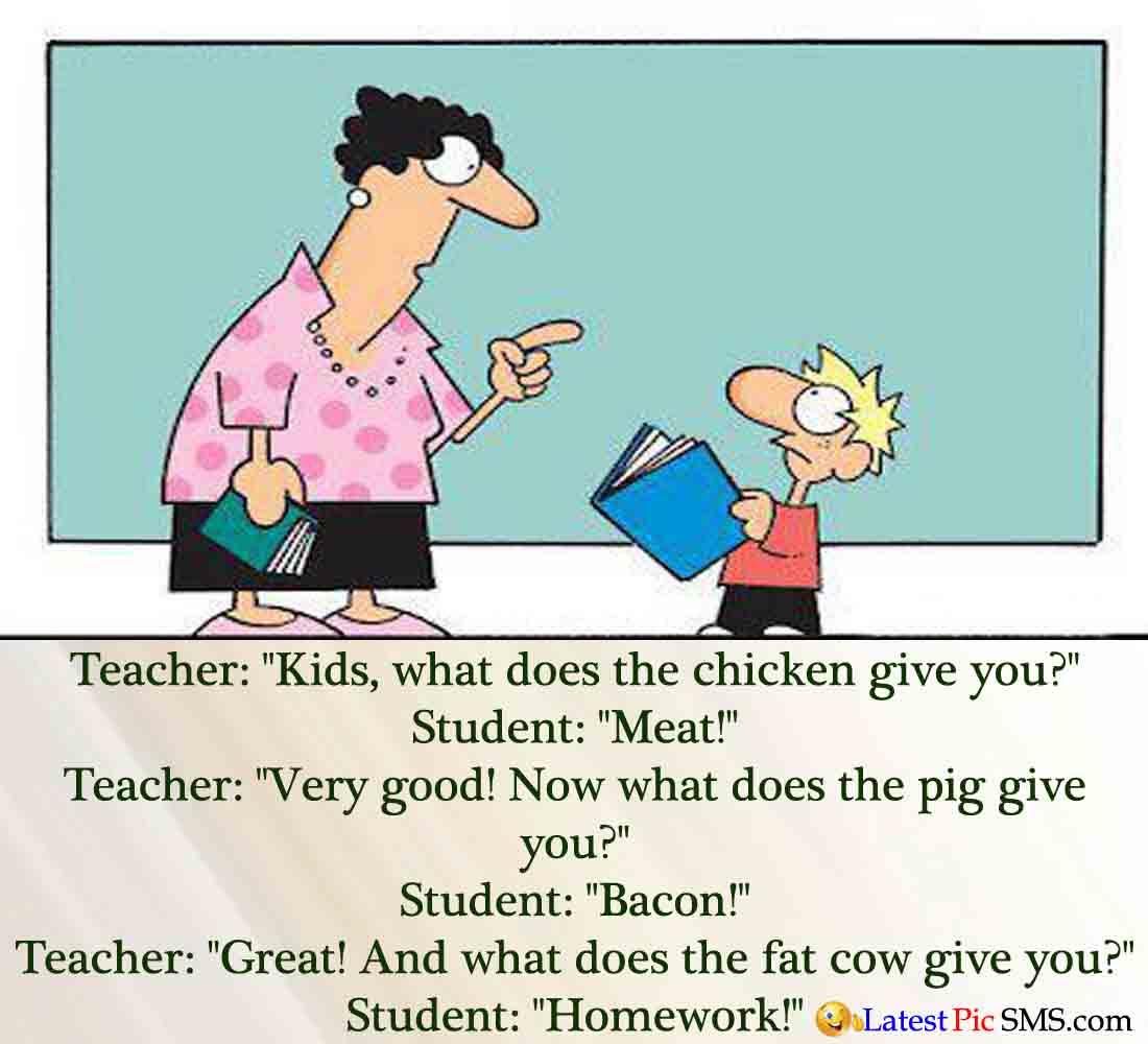 Fat Teacher Funny Joke