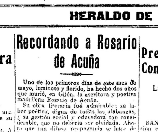 Fragmento del artículo de Rosa Canto publicado en Heraldo de Madrid, 19-5-1925