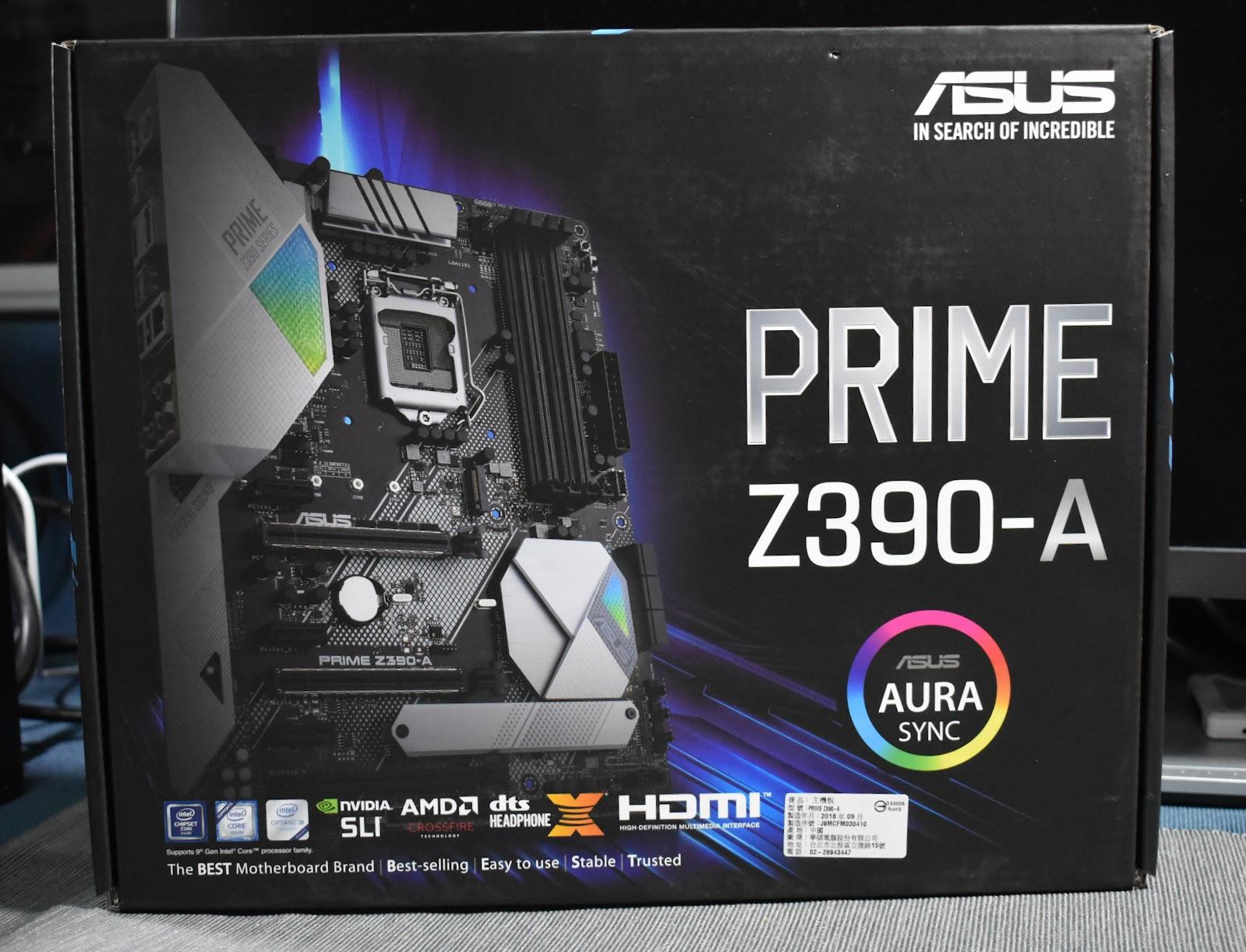 ASUS PRIME Z390-A輕開箱