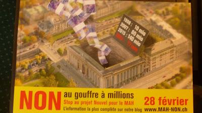 Affiche Non au gouffre à millions