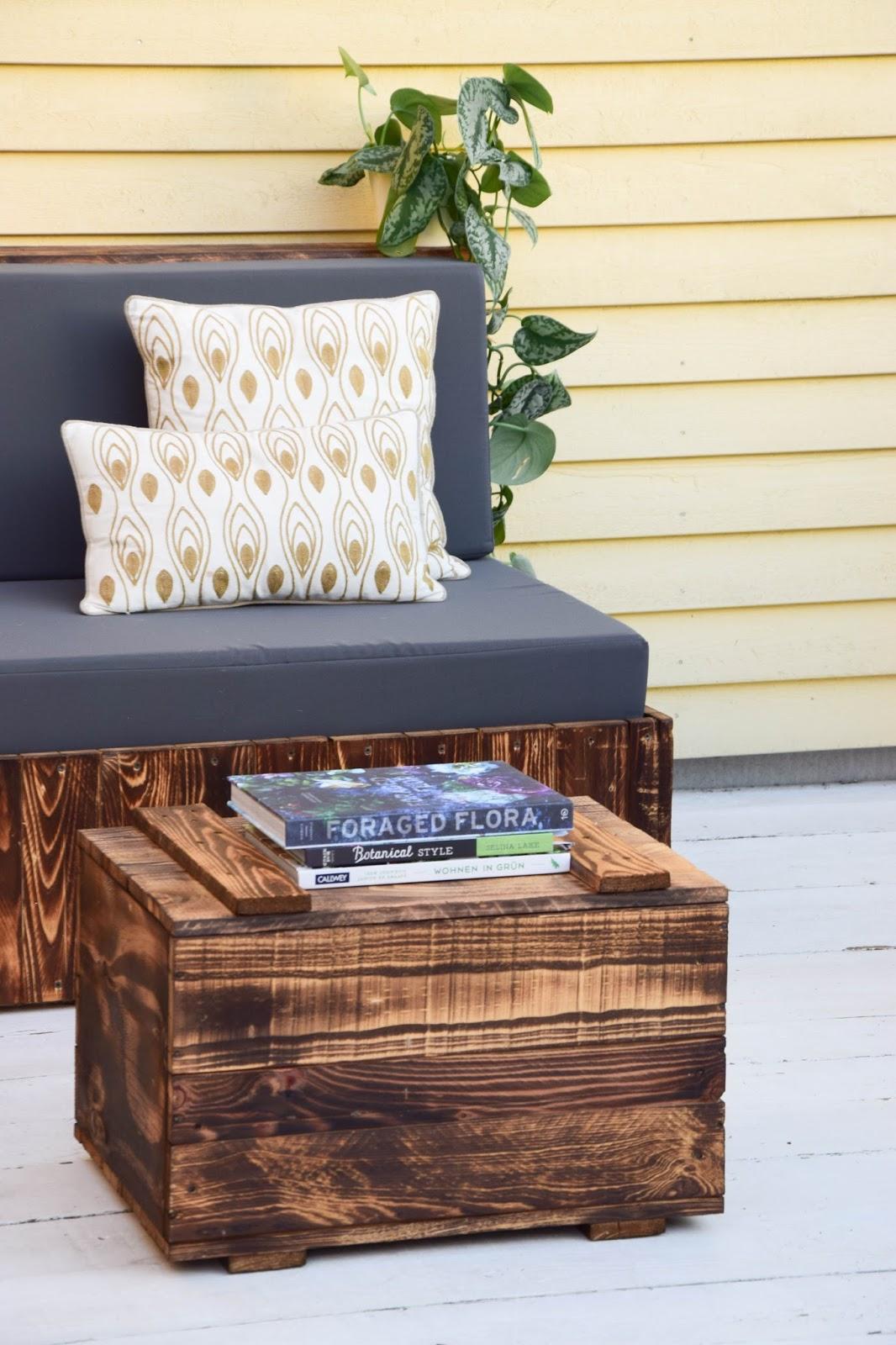 diy paletten sitzmöbel für terrasse dekoidee palettenmöbel gestaltung deko garten
