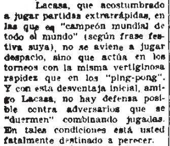 Artículo sobre el Torneo Internacional de Ajedrez del Madrid F.C. 1936 en El Sol 20-5-1936