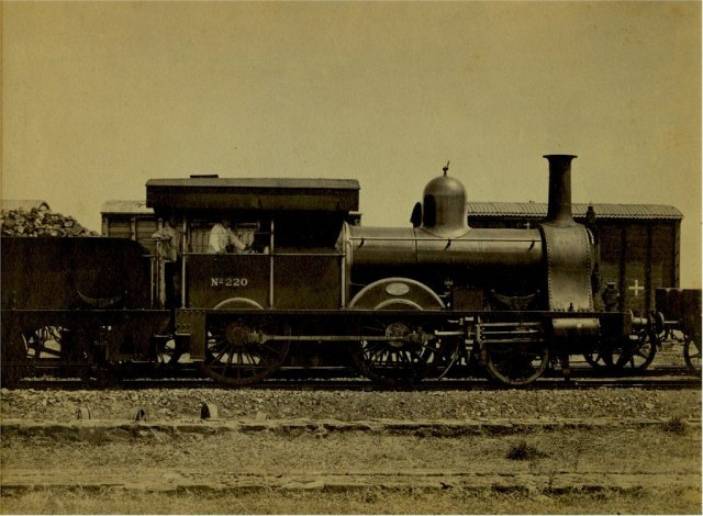 Chord Line Engine 220, East India Railway  - c1870