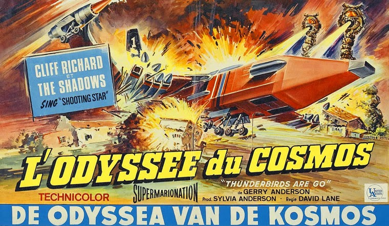 Französisches Kinoplakat von THUNDERBIRDS ARE GO (1966) Quelle: United Artists