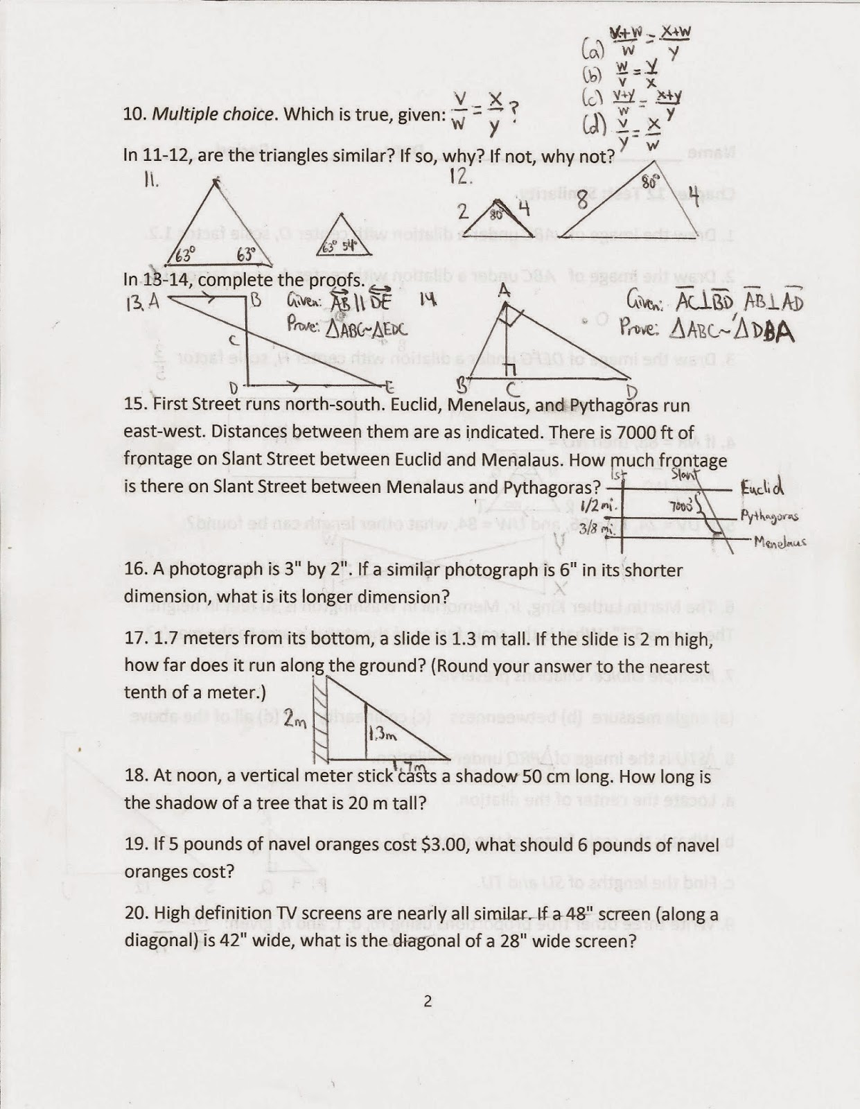 Geometry Common Core Style March