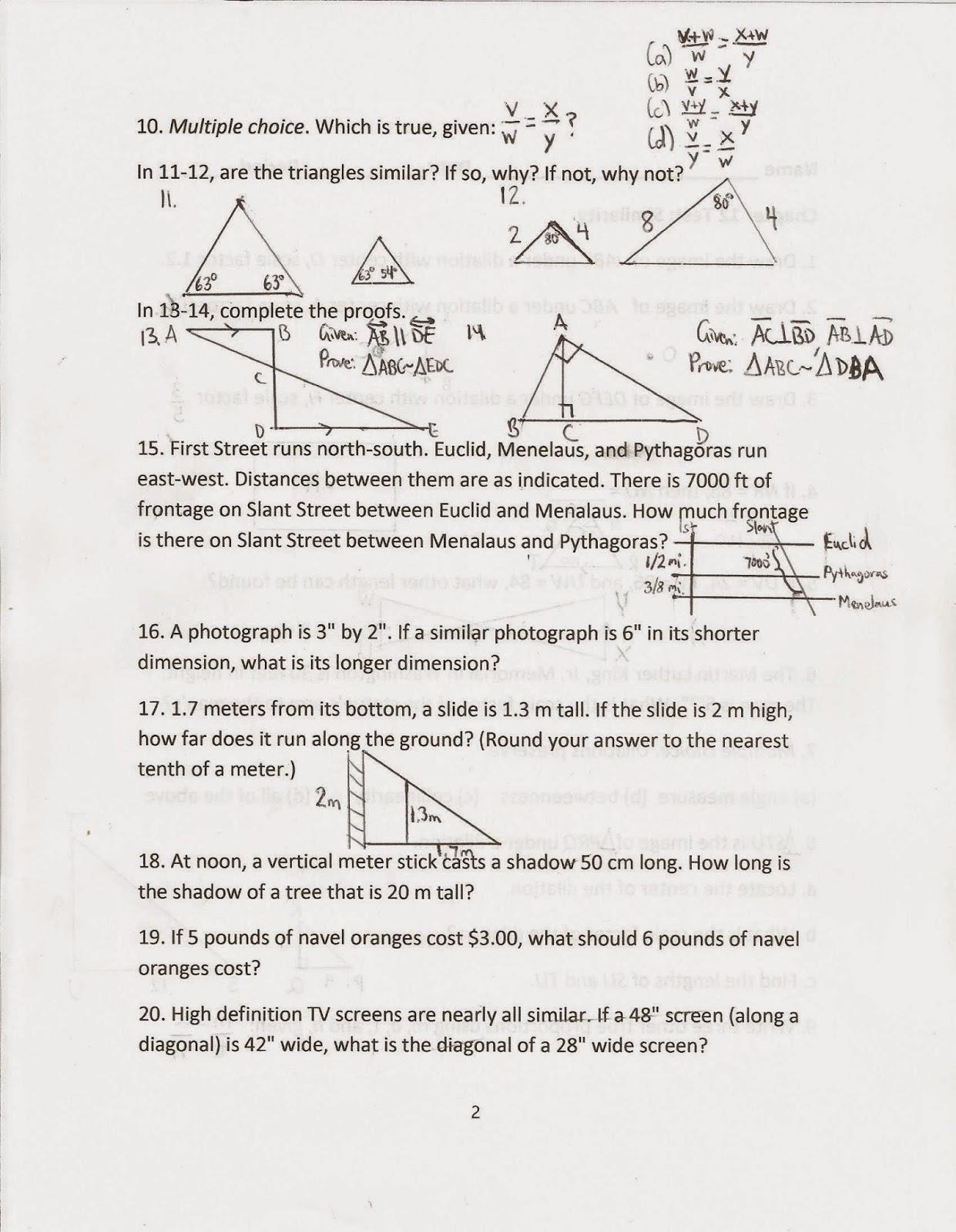 Common Core Geometric Shapes Worksheet