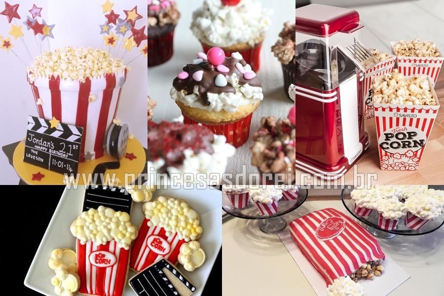 pipoca festa cupcake candy party bolo pipoca theme cine popcorn