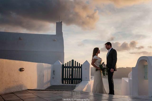 Wedding Inspiration- Oia, Santorini Greece wedding. Photo by Ventouris Photography