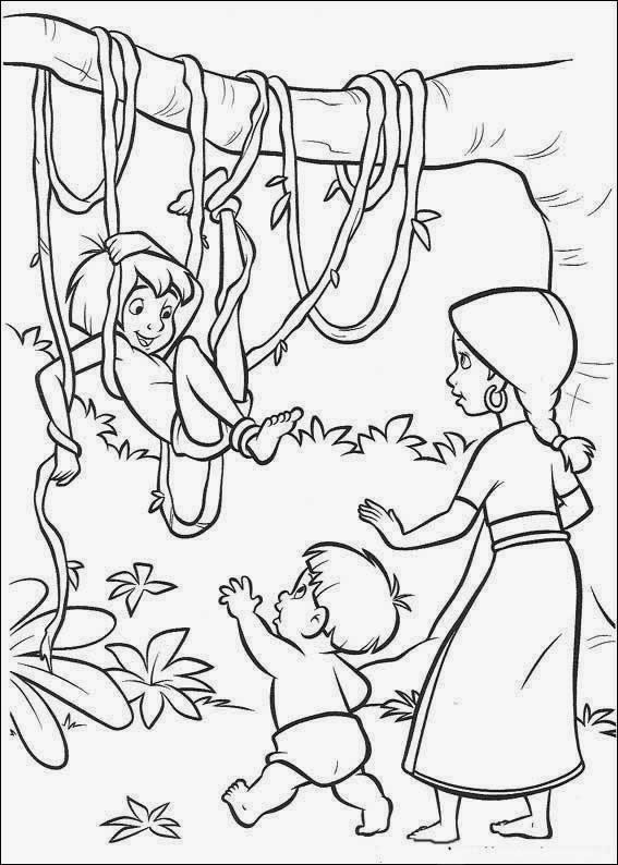 Maestra de Primaria: El libro de la selva, dibujos para colorear ...