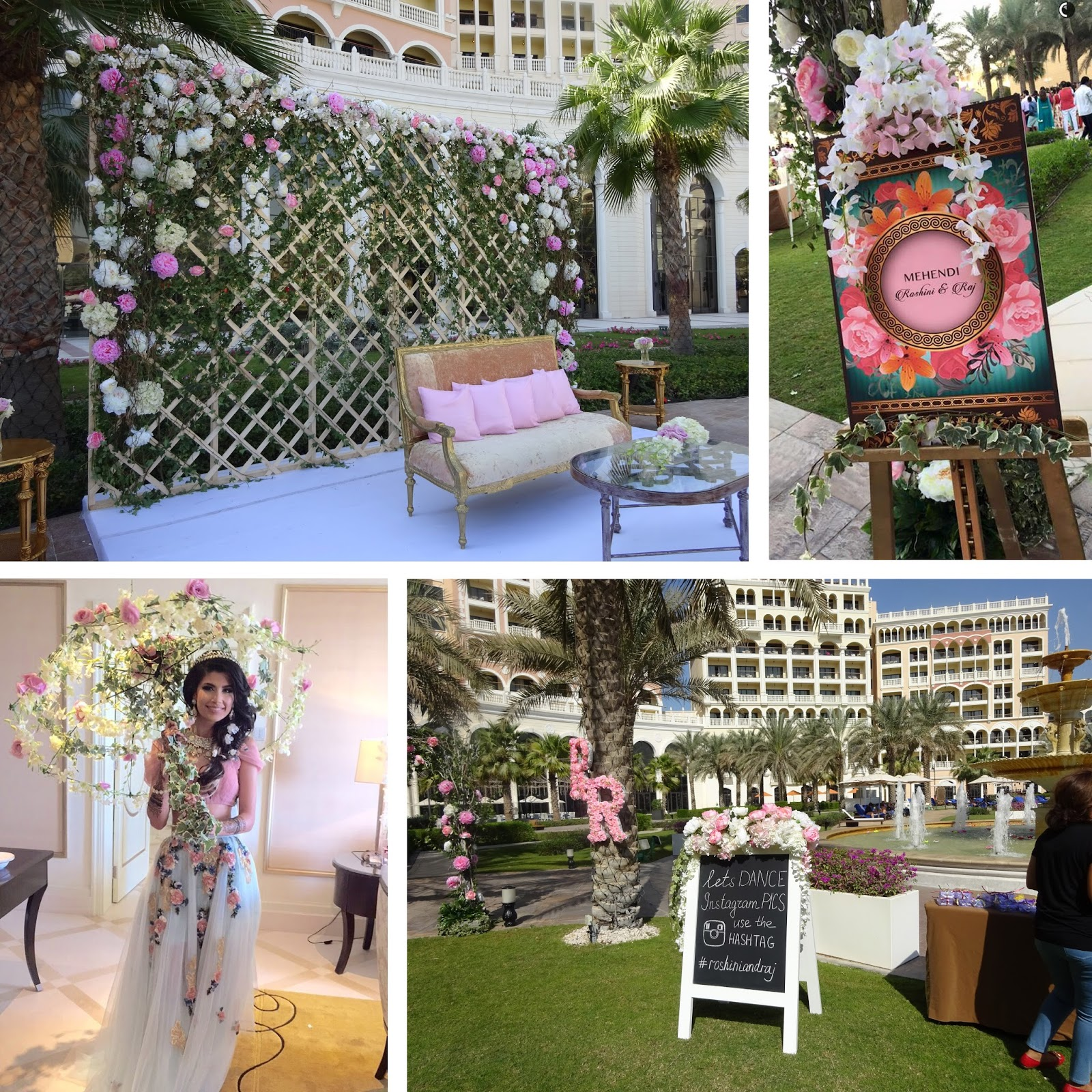 That posh wedding roshini raj ritz carlton abu dhabi that decor junglespirit Image collections