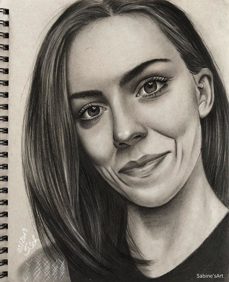 11-Juliane-Sabine-S-Charcoal-Portraits-Realistic-Drawings-www-designstack-co