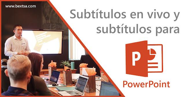 Microsoft agrega subtítulos para presentaciones en powerpoint