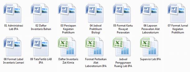 Contoh Format Administrasi Laboratorium IPA