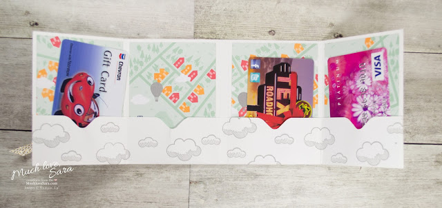 Hot Air Balloon Gift Card 4 Pocket Card made with the Stampin Up Envelope Punch Board