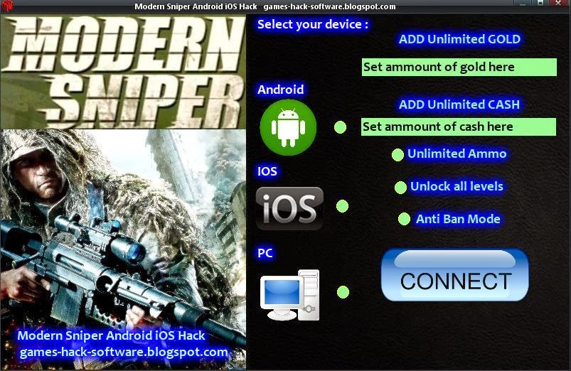 Modern Sniper Android iOS Hack | Best Games Bots