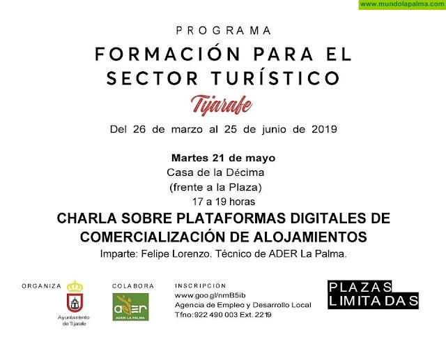 Charla sobre plataformas digitales en Tijarafe, formación para el sector turístico