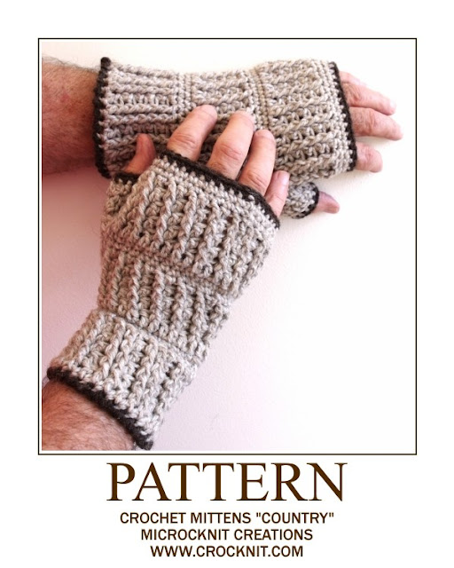 crochet patterns, how to crochet, man mitts, mittens, fingerless, gloves, men