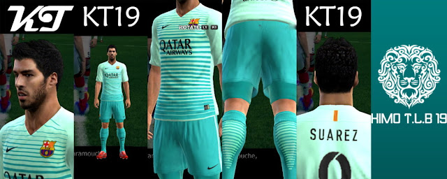 PES 2013 Barcelona Third Kit Season 2016-2017