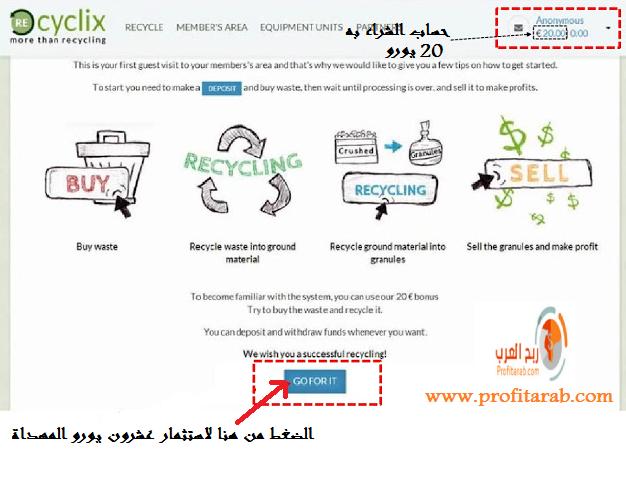 الموقع الرائعrecyclix، شركة تدوير النفايات، ط§ط³طھط«ظ…ط§ط± ط¹ط´ط±ظˆظ† ظٹظˆط±ظˆ.png