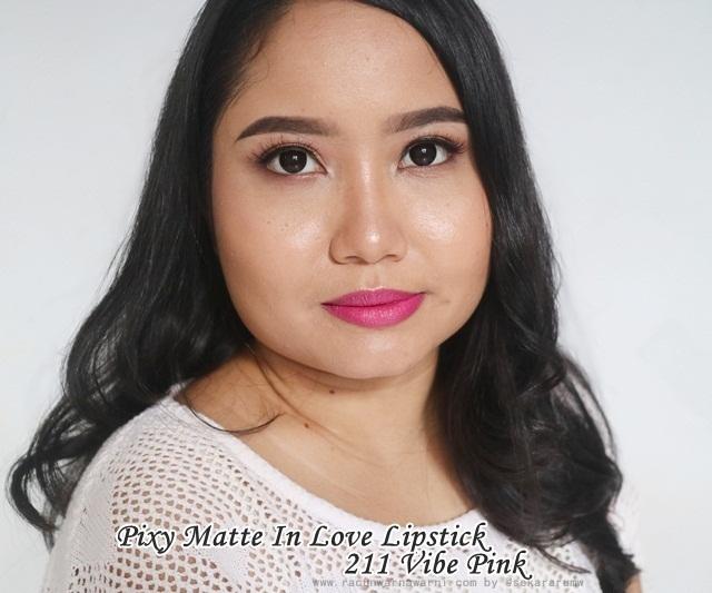 FOTD Pixy Matte In Love Lipstick 211 Vibe Pink