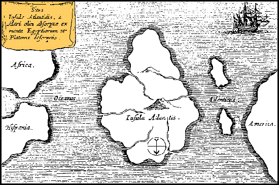 Athanasius Kircher's Map of Atlantis (ca. 1669)