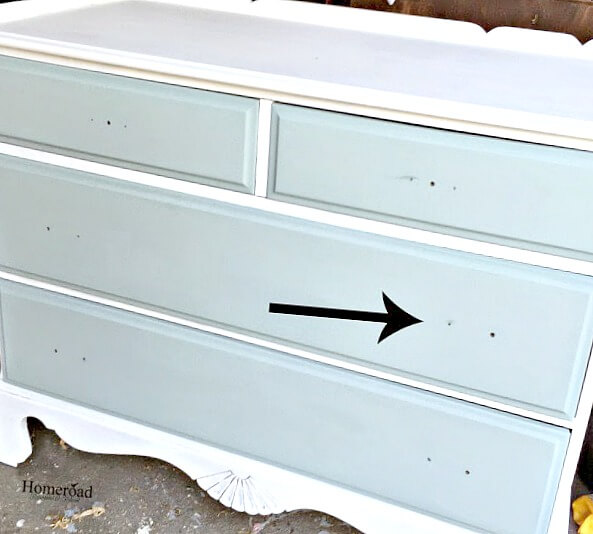 How to turn knob holes into handle holes on furniture