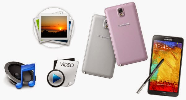 Transfer Videos, Photos, Music to Galaxy Note 3, Note 4