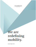 Front page of the VW annual report 2016