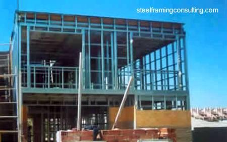 Estructura metálica de una vivienda industrializada