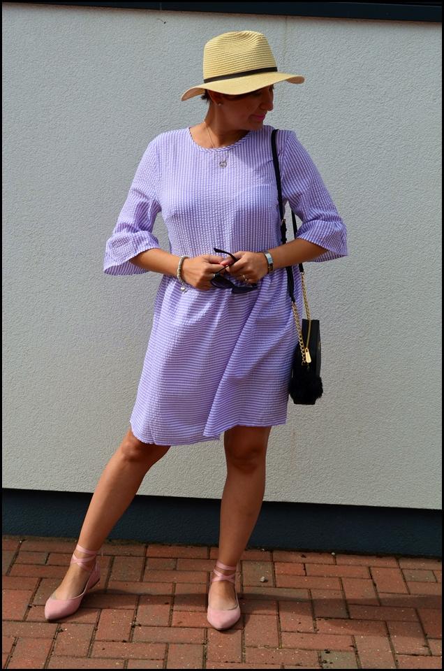 Rosegal Striped Dress, Summer Dress, Purple Dress, Fashion Blog, Adriana Style Blog, Sukienka w paski, fioletowa sukienka rosegal, blog modowy, blog modowy Puławy, itbag, torebka michael kors, Michael Kors bag, moda, styl, fashion, style