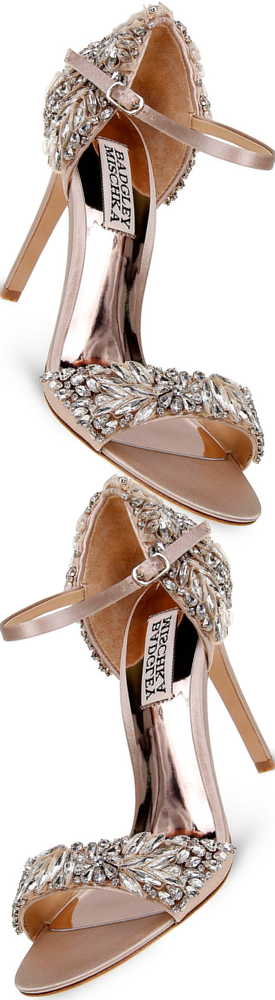 Badgley Mischka Women's Tampa Embellished d'Orsay Ankle Strap Sandals