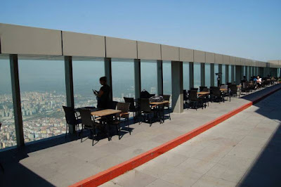 El mirador más alto de Estambul, Torre Sapphire, levent