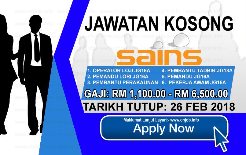 Jawatan Kerja Kosong Syarikat Air Negeri Sembilan - SAINS logo www.ohjob.info februari 2018