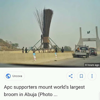 APC Supporters Mount World Greatest Broom in Abuja.