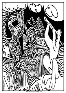 dancers printable pablo picasso adults coloring pages