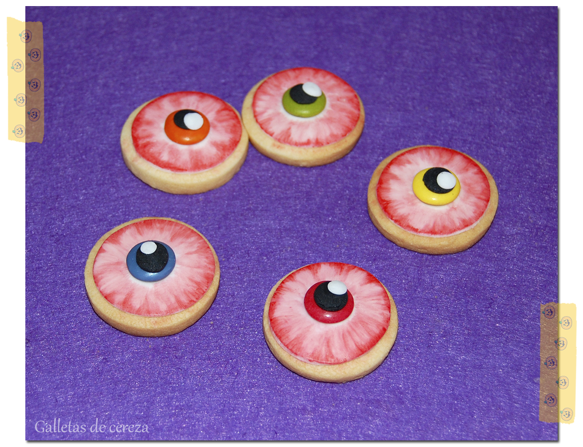 Galletas Decoradas Hallowen Galletas De Cereza Halloween Galletitas De Bruja Y Ojos